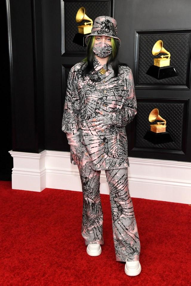Billie Eilish in Gucci 2021 Grammy Awards