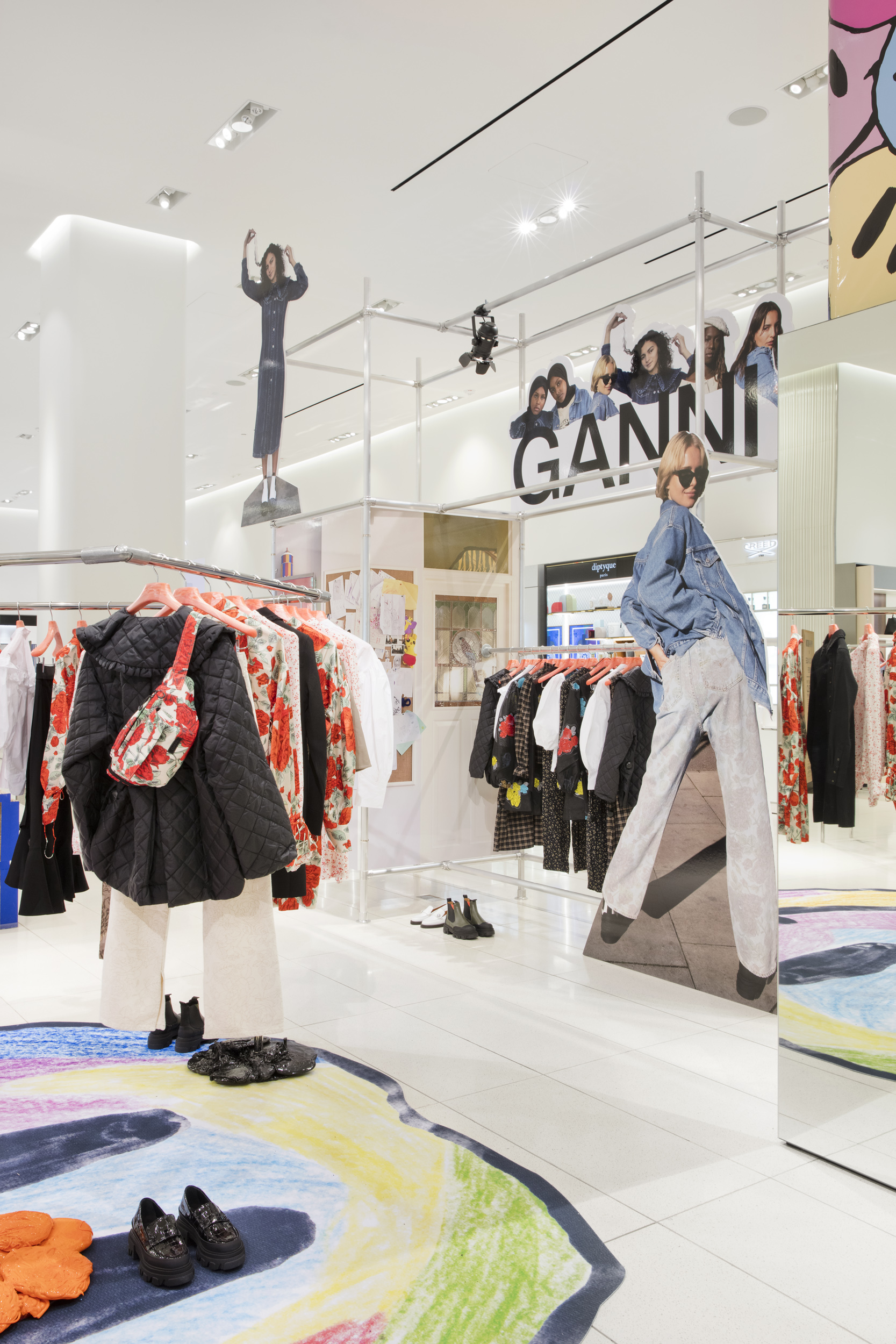 Ganni opened a four-week pop-up shop installation and program of events at Nordstrom's NYC flagship.