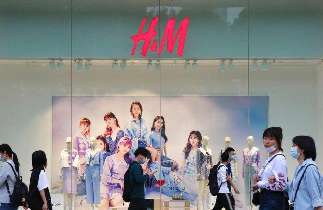 H&M store in Guangzhou, China.
