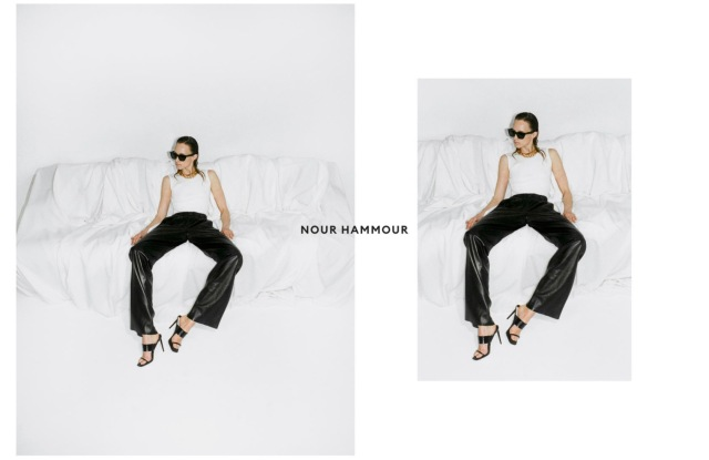 A look from Nour Hammour fall 2021 collection