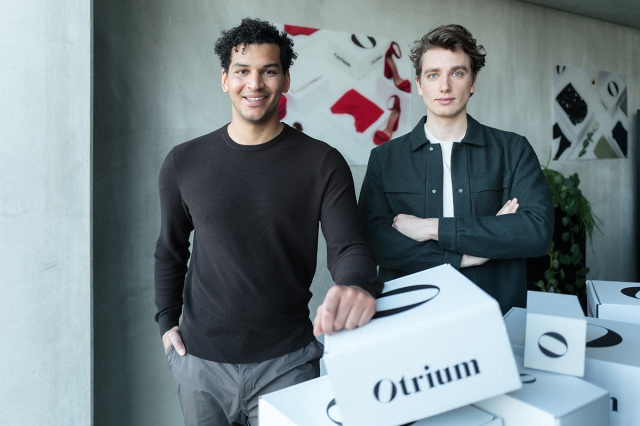 Otrium co-founders Milan Daniels and Max Klijnstra