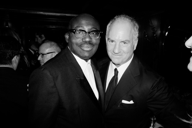 Edward Enninful and Charles Finch, at last year's Chanel x Charles Finch Party