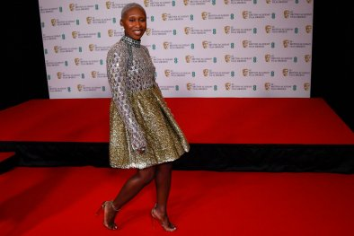 Cynthia Erivo in Louis Vuitton at the 2021 BAFTA Film Awards
