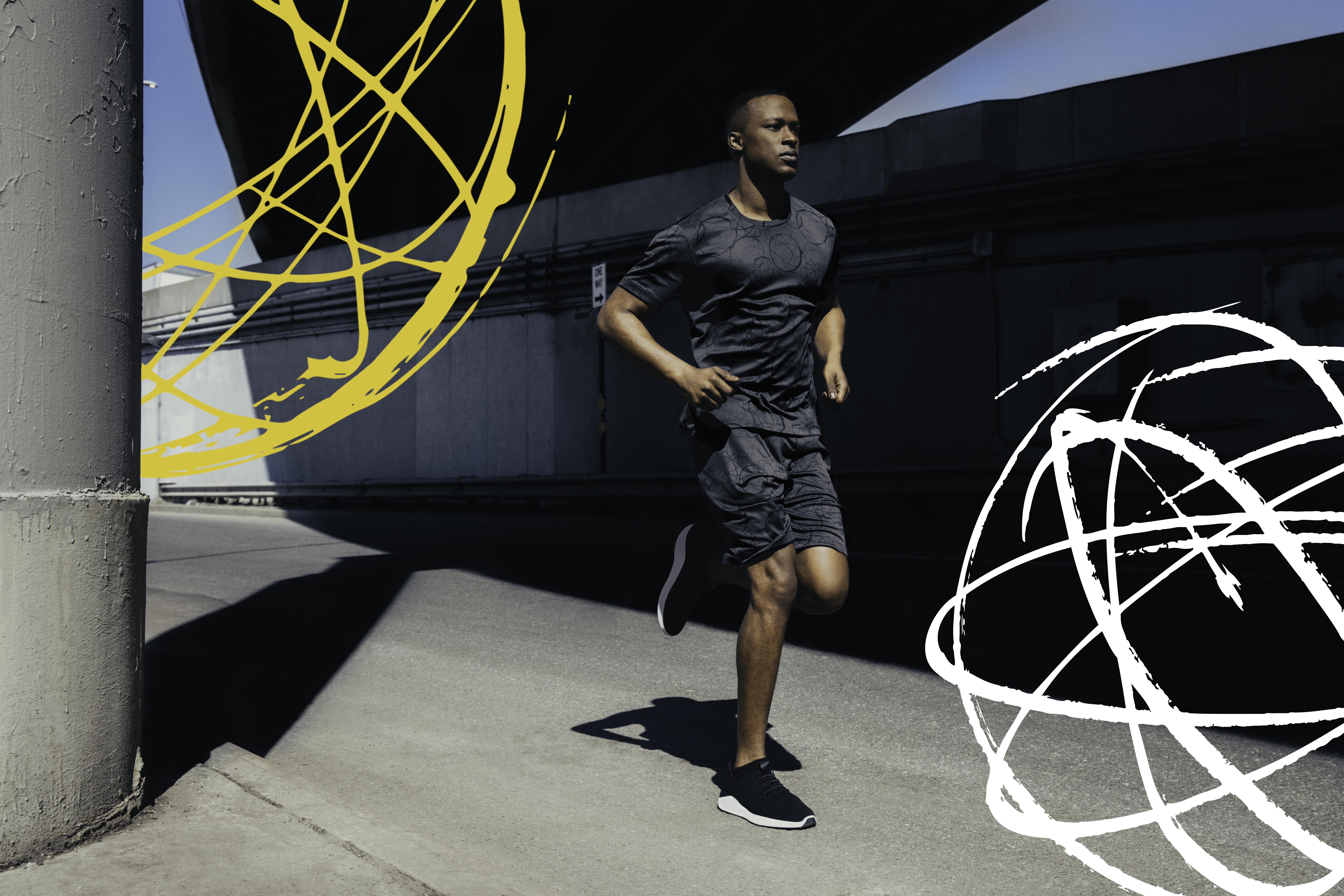 A look from Uniqlo x FUTURA LABORATORIES Sport Utility Wear