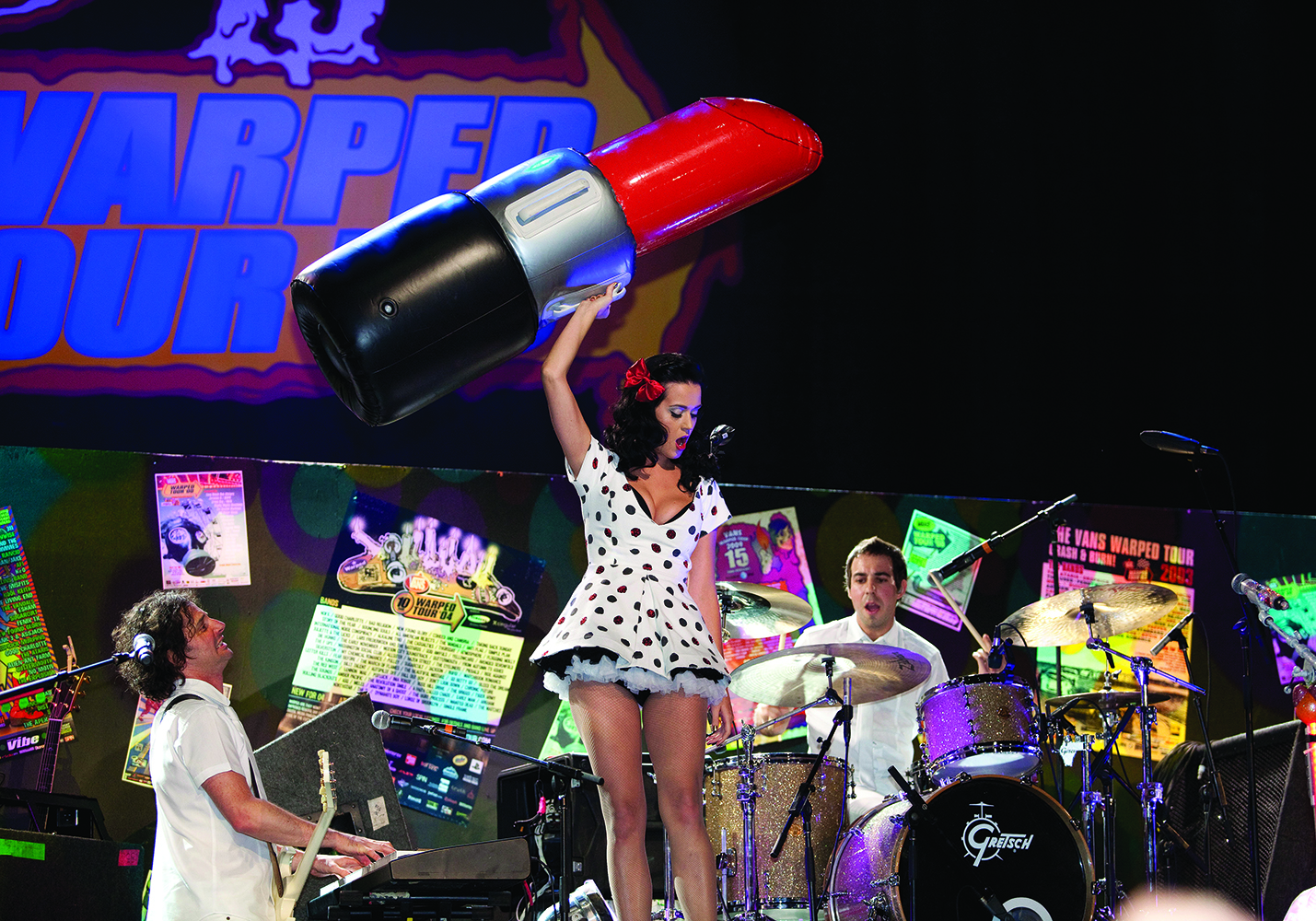 Sept. 06 2009: Katy Perry performs at the Vans Warped Tour 15th Anniversary Celebration at Club Nokia in Los Angeles, CA. (Photo by Paul Hebert/Icon SMI/Corbis/Icon Sportswire via Getty Images)