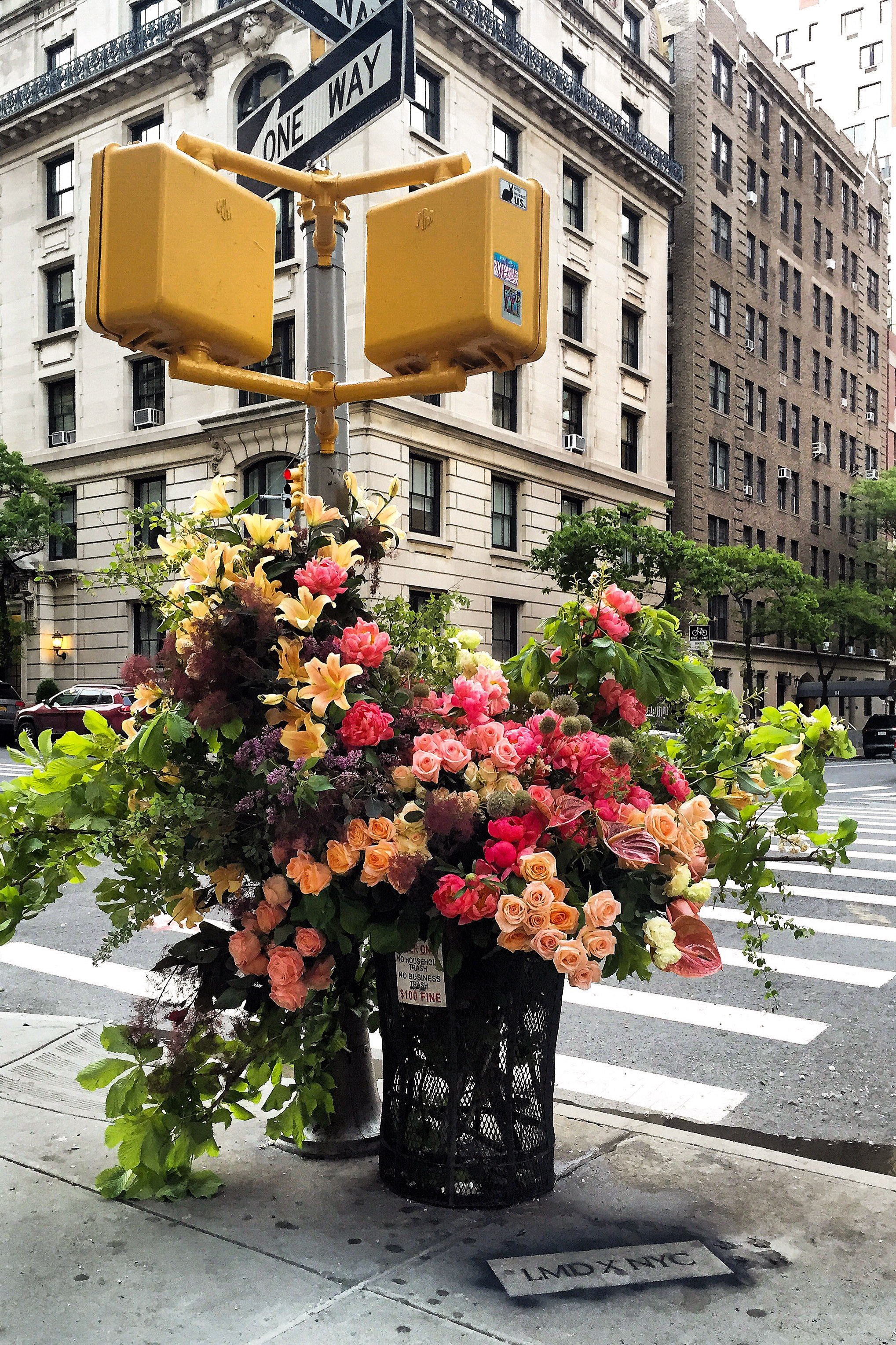 """Lewis Miller Design's """"Flower Flashes"""" are installed in public places."""