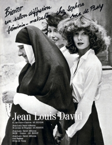 A Jean Louis David advertisement lensed by Alice Springs