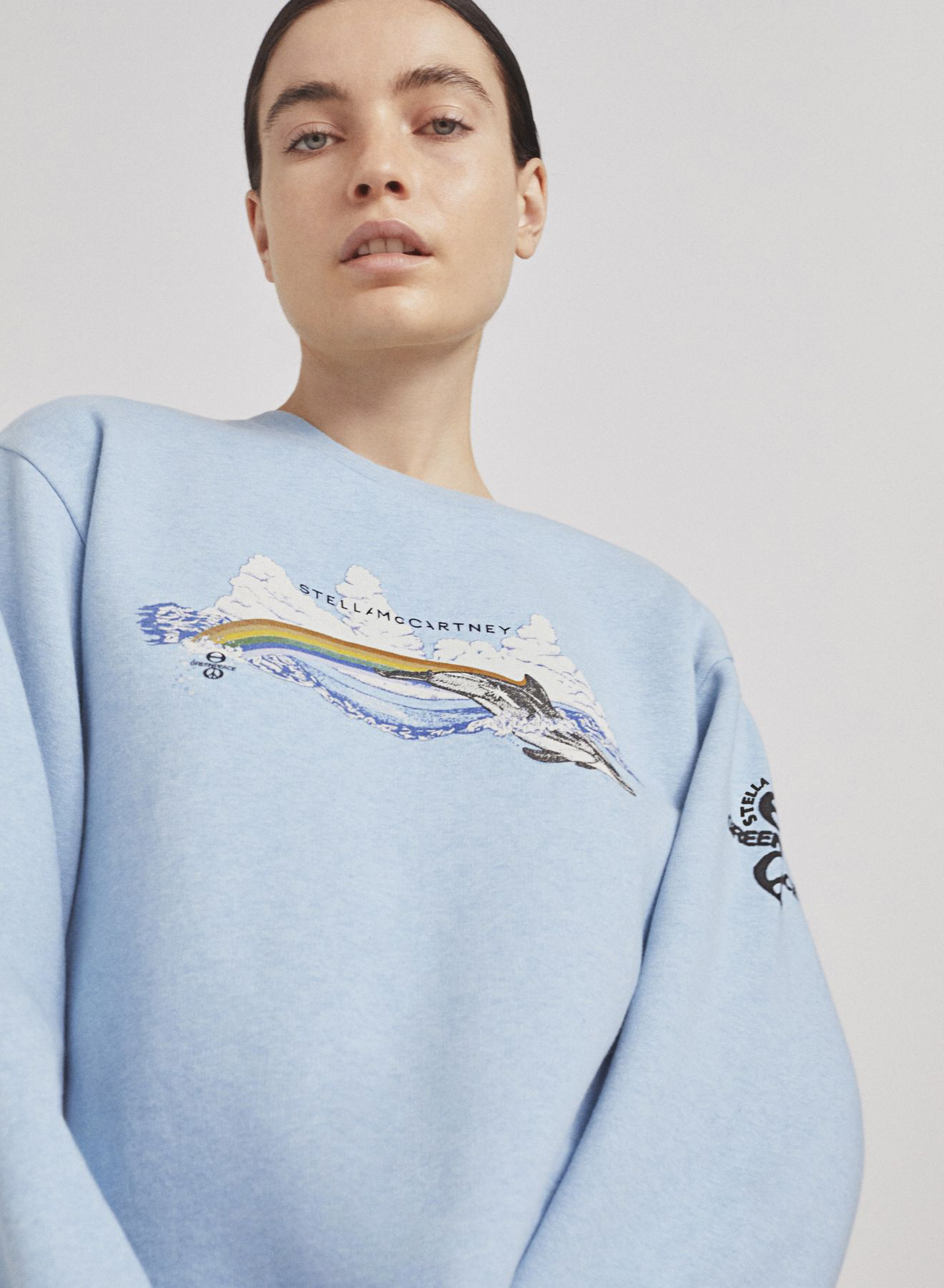 Stella McCartney's sweatshirt in support of the Greenpeace deforestation campaign.