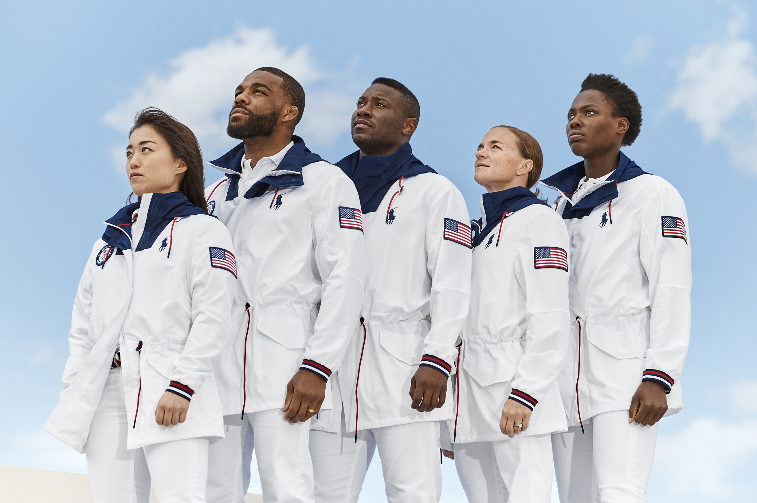 Ralph Lauren's Olympic Closing Ceremony uniforms.