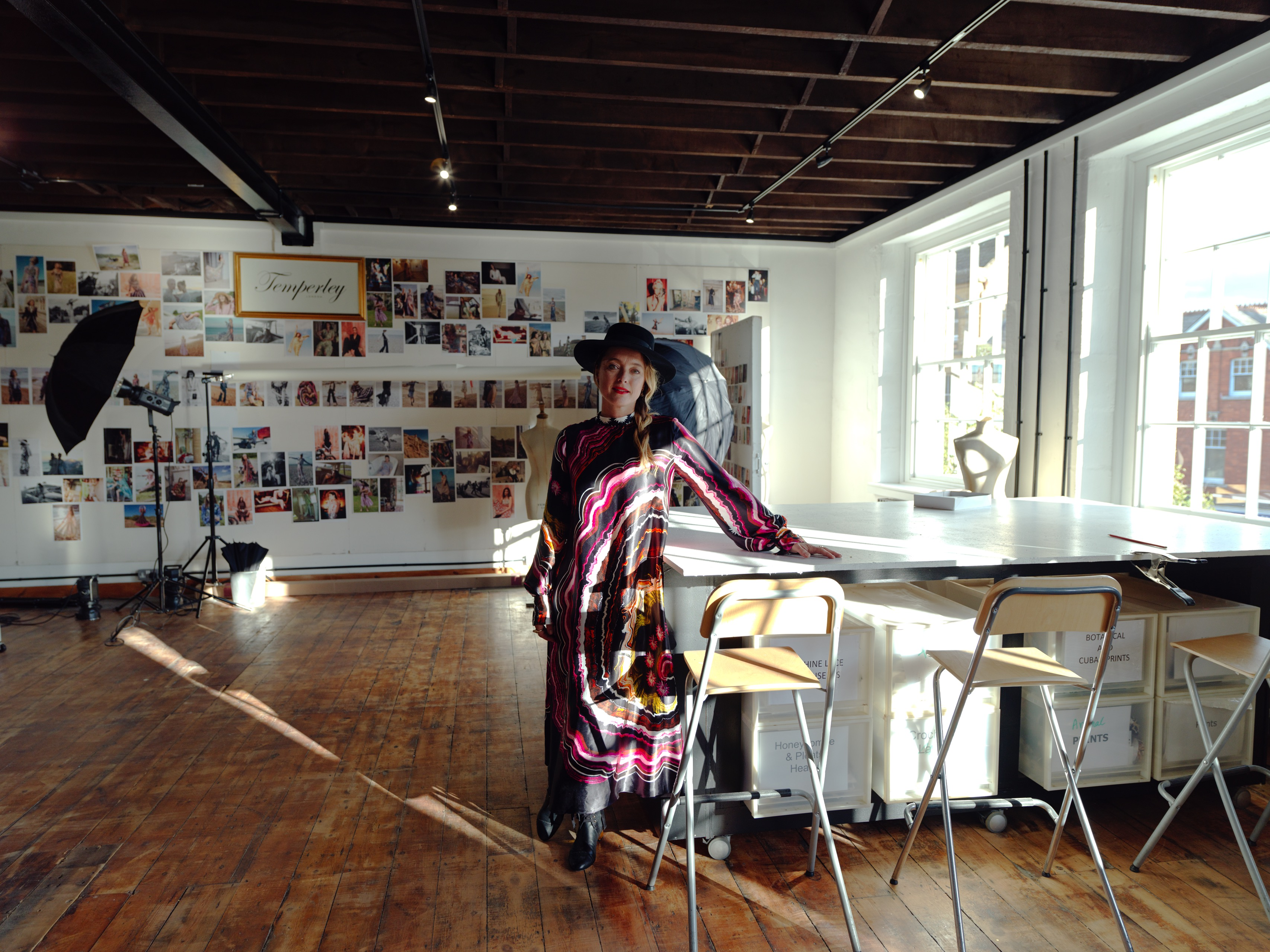 Alice Temperley at her new headquarter in Somerset, England.