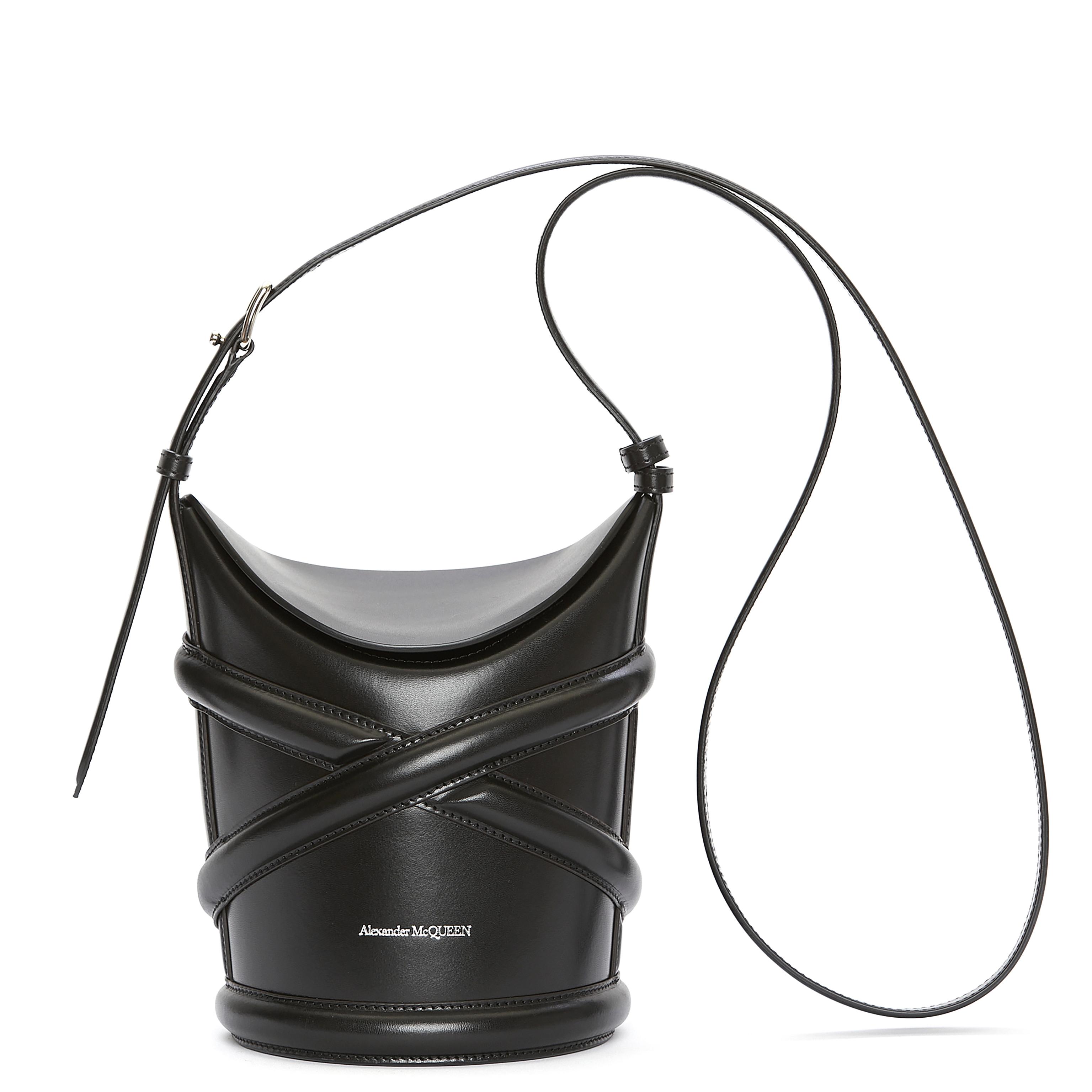 Alexander McQueen Curve Bag Black
