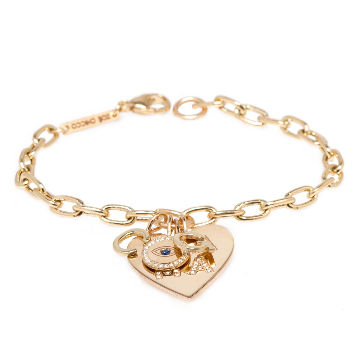 Ariane Goldman x Zoe Chicco Customizable Multi Charm Bracelet 1