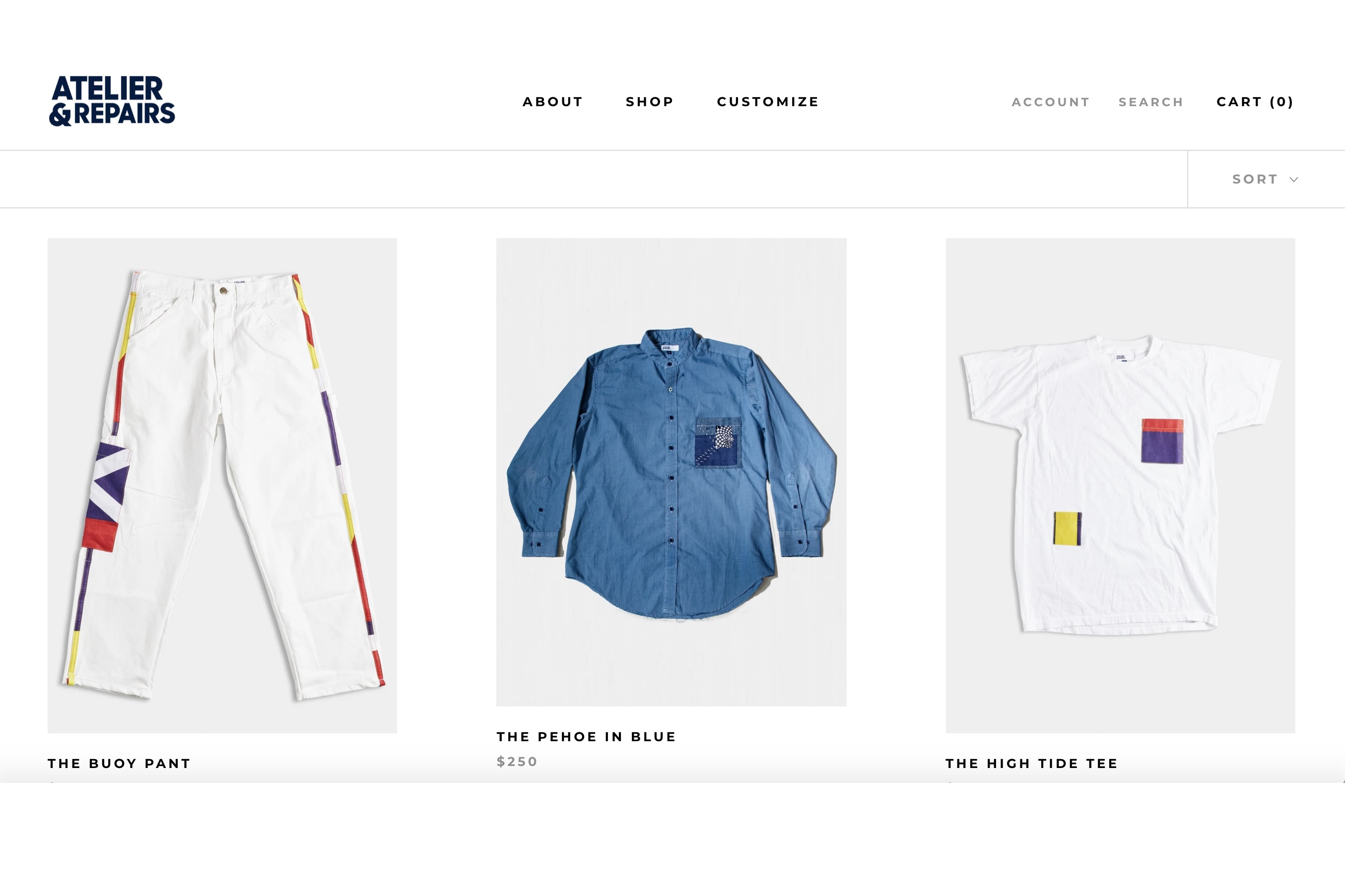 Atelier & Repairs repurposes garments from a variety of brands.