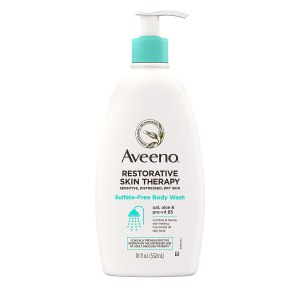 Aveeno Restorative Skin Therapy Sulfate-Free Body Wash, best unscented body wash