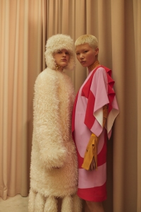 Backstage at Burberry RTW Fall 2021.