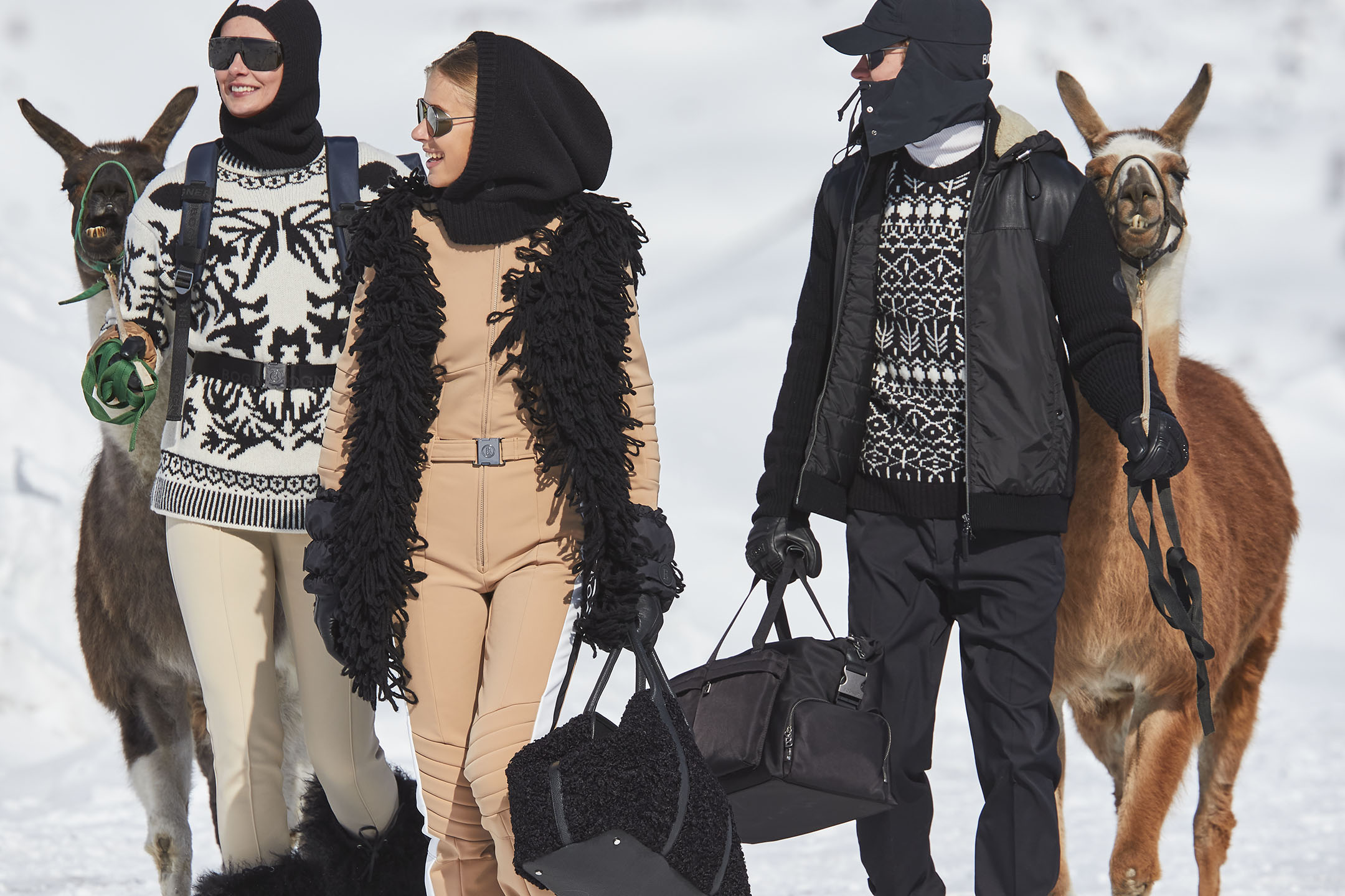 The new Bogner campaign was photographed in Switzerland.