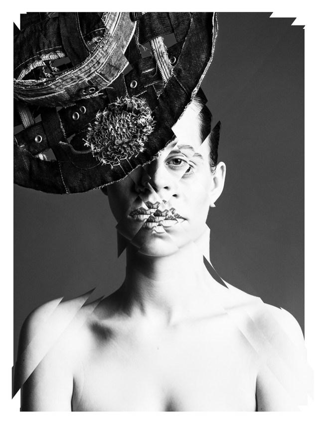 'Mottainai Hat' - Concept: The Visionary Lab, Design: Yuki Isshiki, Photo: Wendelien Daan, Styling: Majid Karrouch, Denim provided by: G-star RAW