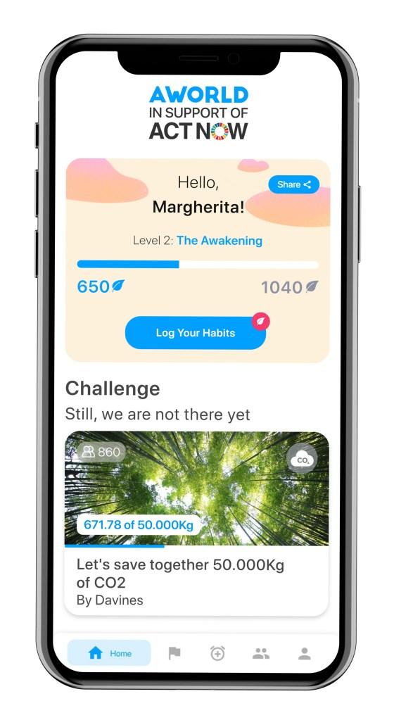 The AWorld app.