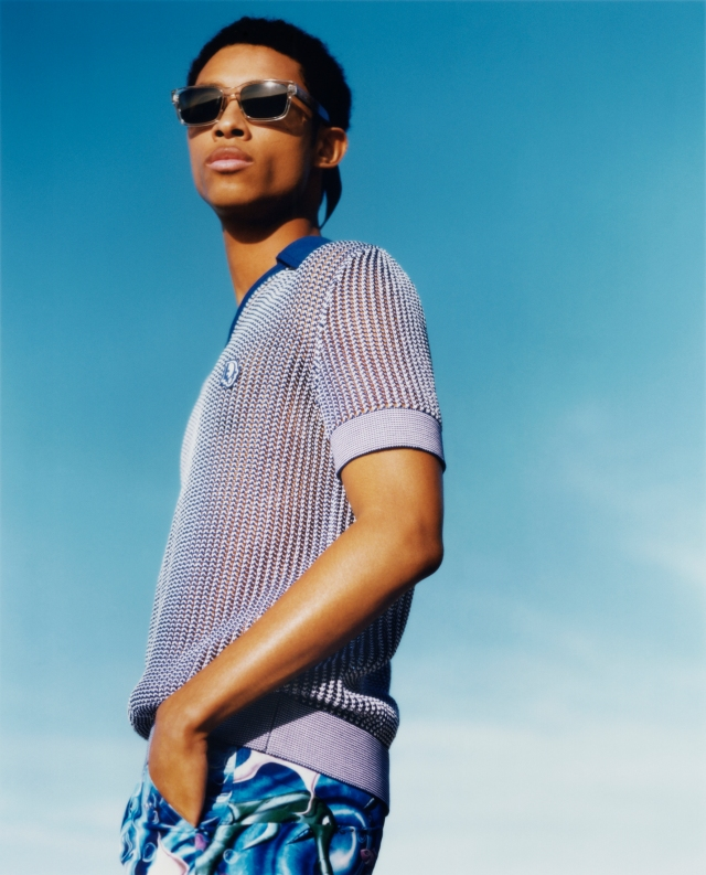 A look from the Dior men's beachwear capsule collection.