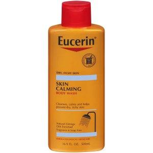 Eucerin Skin Calming Body Wash, best unscented body wash
