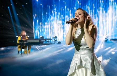 "Will Ferrell as Lars Erickssong, Rachel McAdams as Sigrit Ericksdottir in ""Eurovision Song Contest: The Story of Fire Saga."""