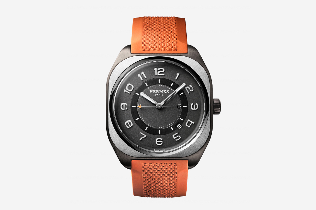 The Hermès H08 titanium watch.