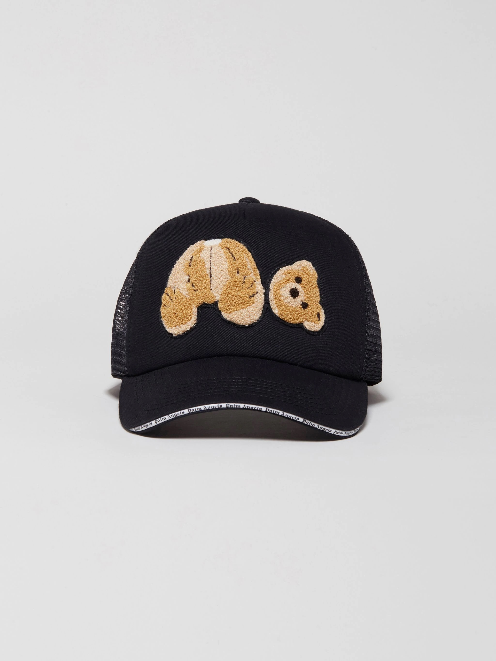 Palm Angles' cute teddy bear hat with mesh backing.