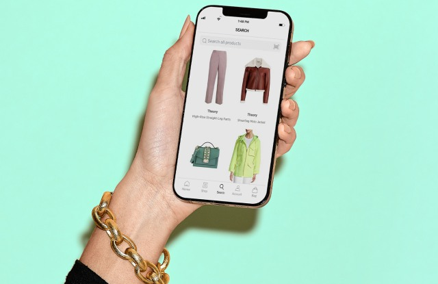 The Saks Off 5th shopping app.