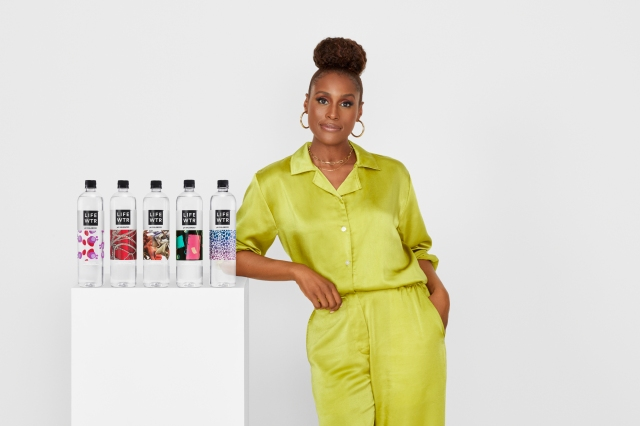 Issa Rae and the fashion bottles.
