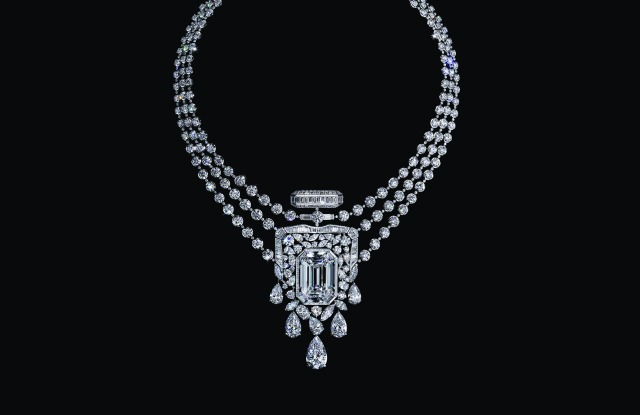 Chanel's 55.55-carat diamond necklace marks the centenary of the label's No.5 perfume.