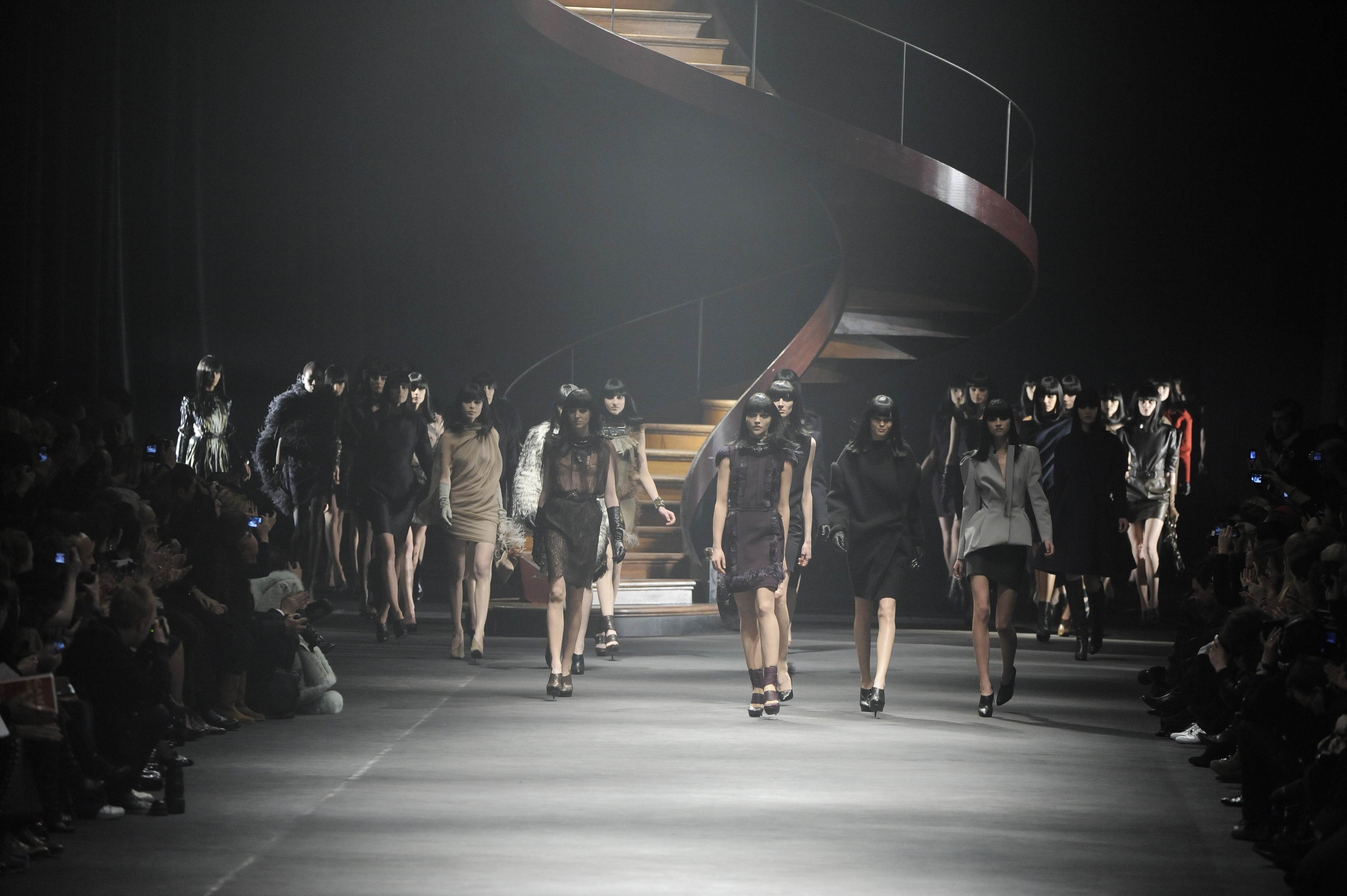 Models on the runway at Lanvin's fall 2010 show.