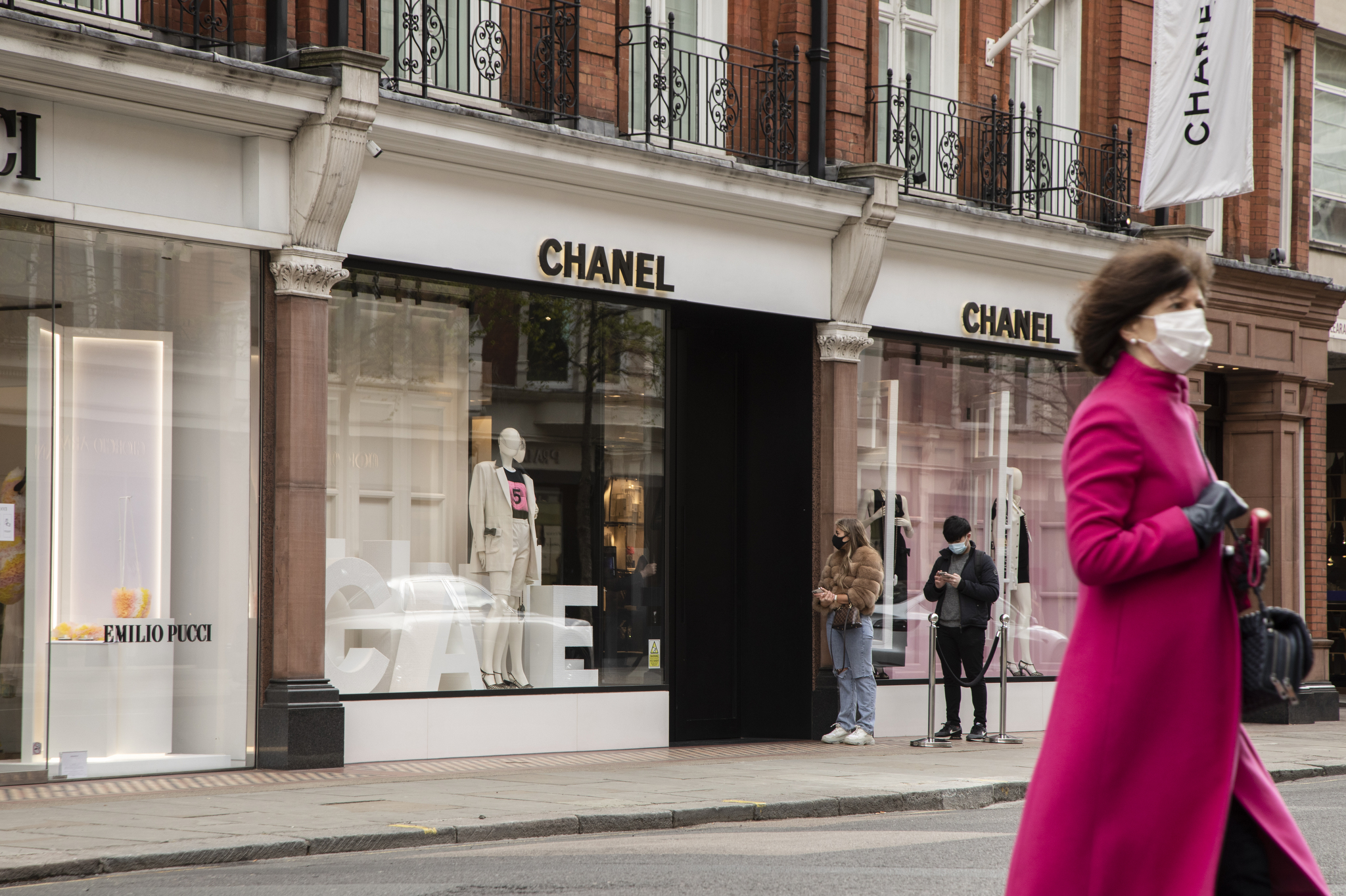 Chanel in London as the shops re-open.