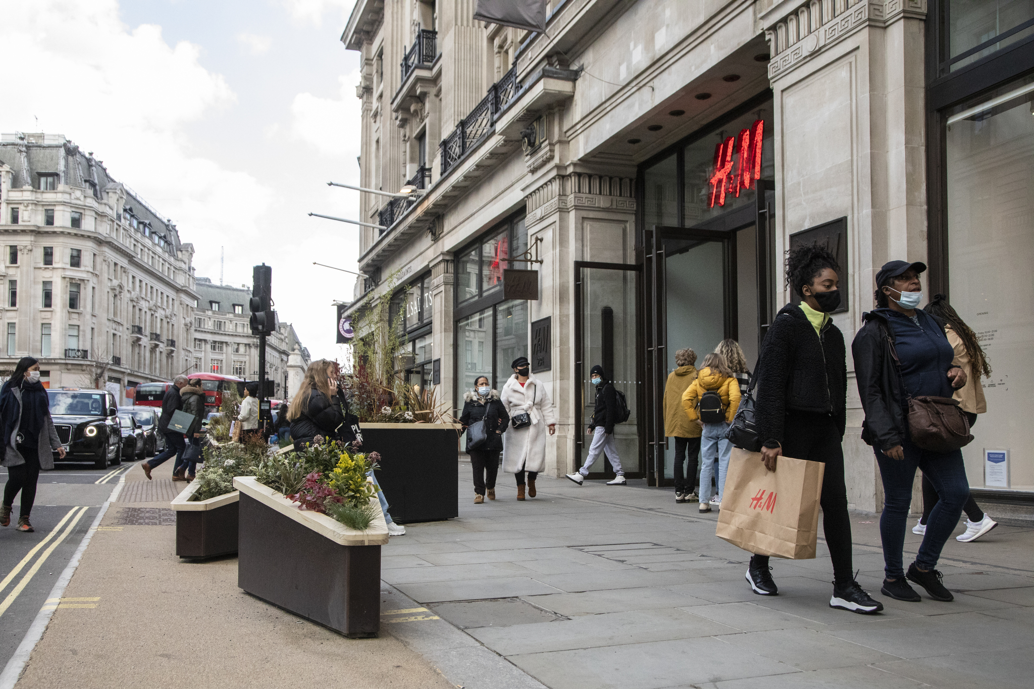 H&M in London as the shops re-open.