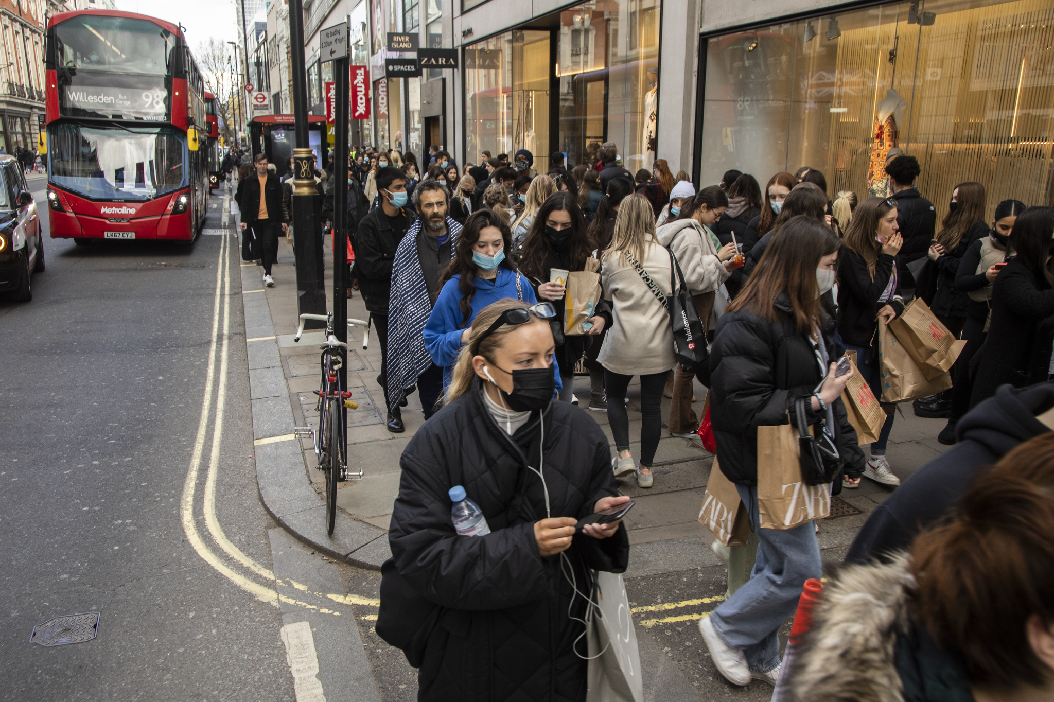 Atmosphere in London as the shops re-open.