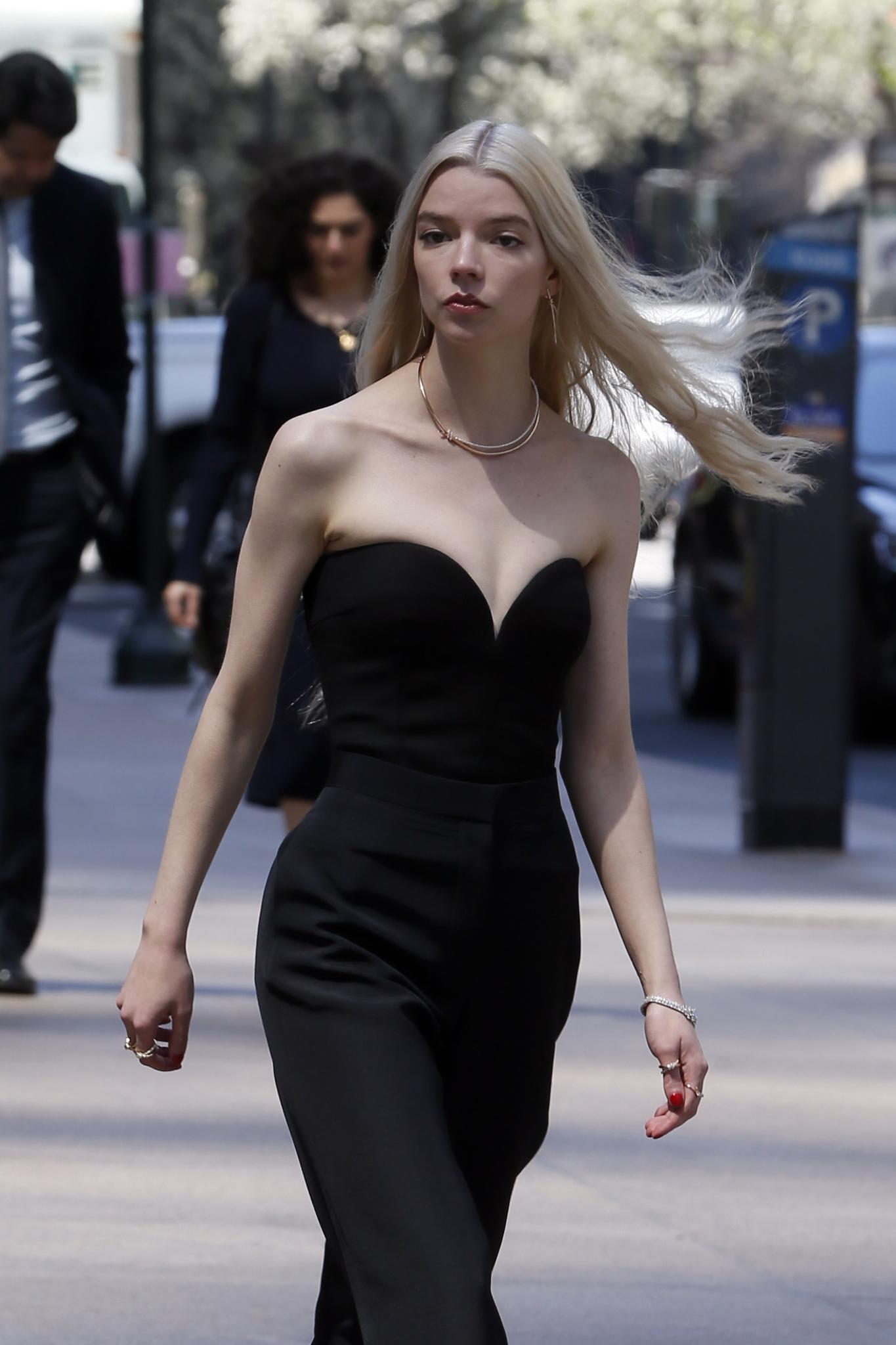 Anya Taylor-Joy shooting for Tiffany in New York City.