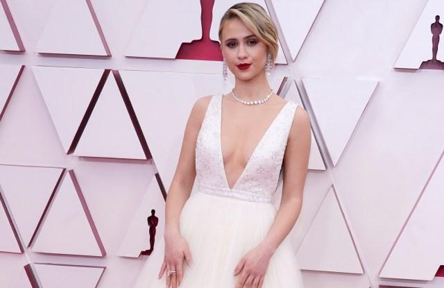 Maria Bakalova on the Oscars 2021 Red Carpet