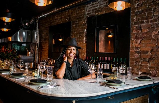 Chef Shenarri Freeman behind the bar at Cadence.