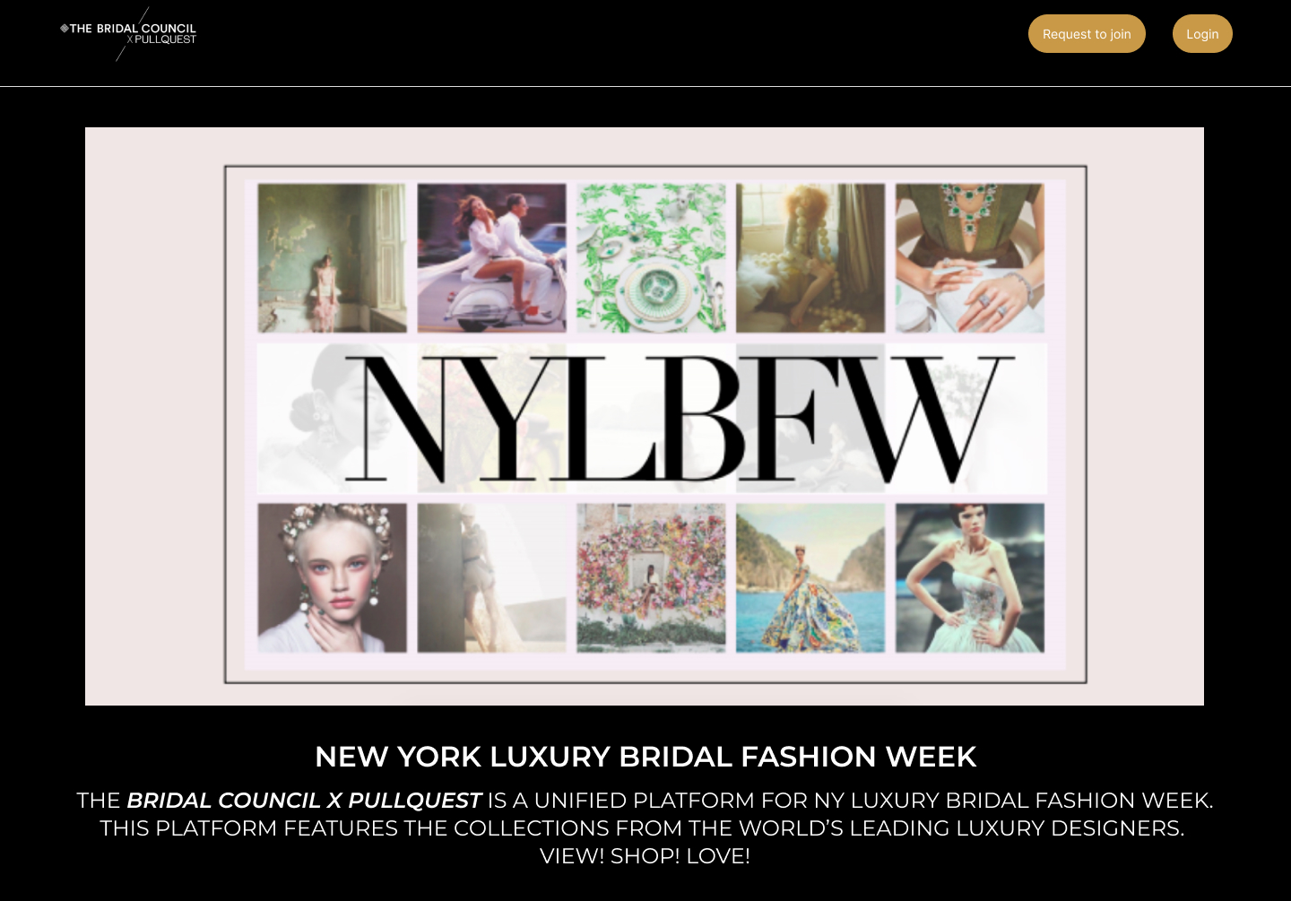 An image from The Bridal Council x Pullquest's platform.