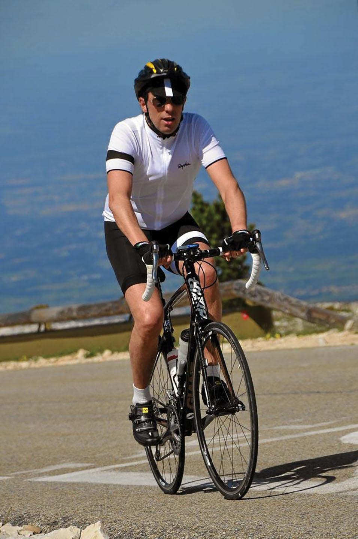Nicolas Ascending Mont Ventoux in France.