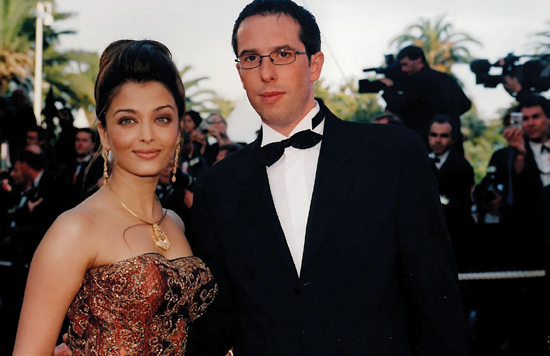 Nicolas Hieronimus with Aishwarya Rai at the Cannes Film Festival in 2003.