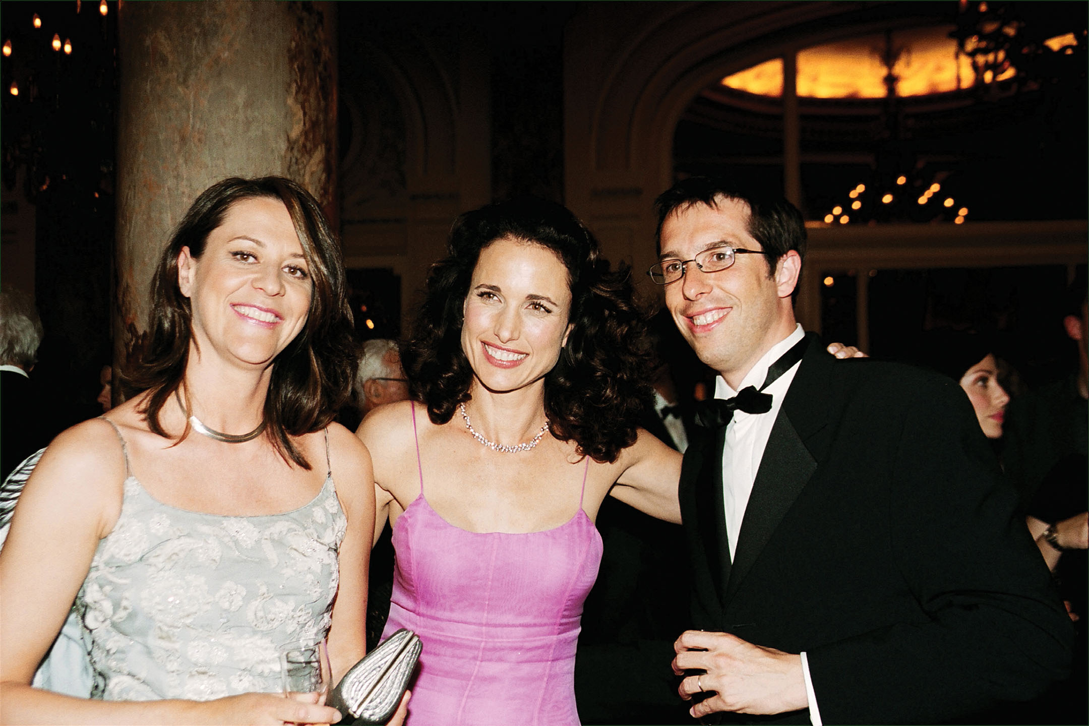 Nicolas with Géraldine and Andie MacDowell at the Cannes Film Festival in 2002.
