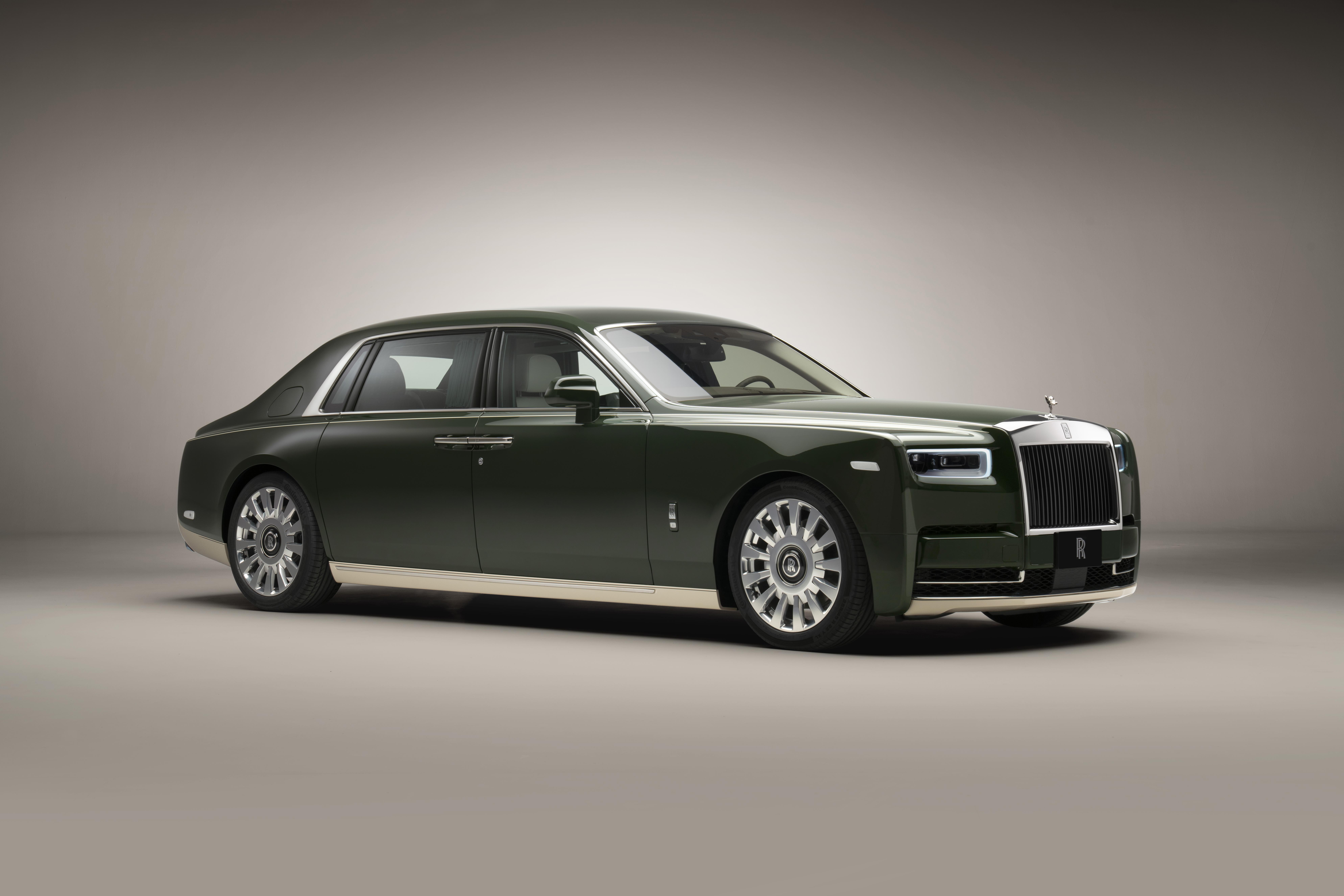 The bespoke Phantom Oribe created by Rolls-Royce and Hermès.