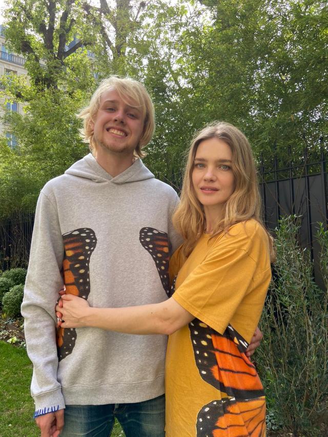 Natalia Vodianova with son Lucas Portman