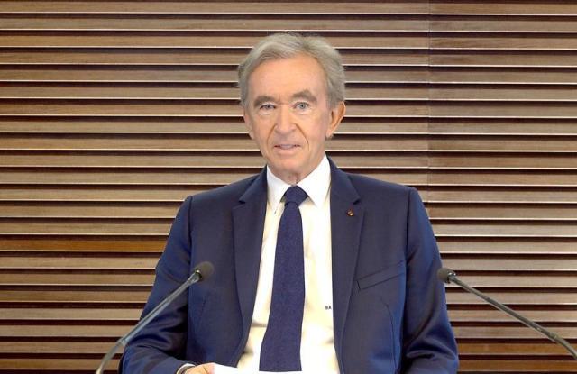 Bernard Arnault during LVMH's 2021 annual general meeting.
