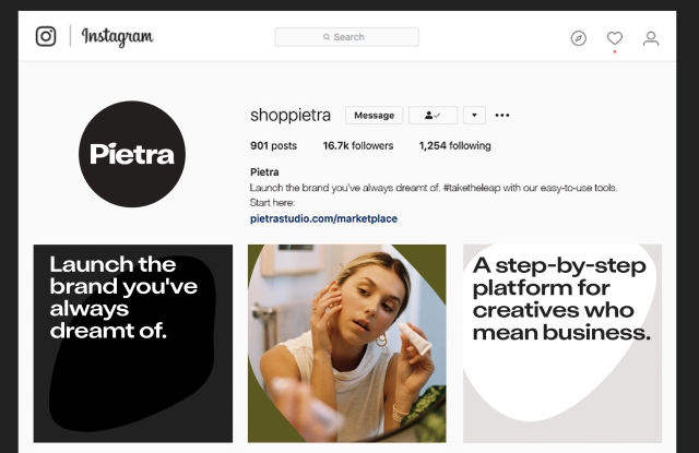 Pietra wants to help influencers make products and become consumer brands, and it's offering to connect them with world-class vendors.