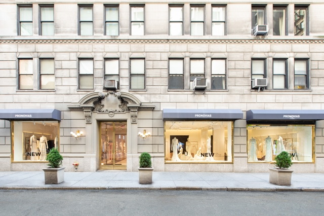 The Pronovias New York flagship at 45 East 58th Street.