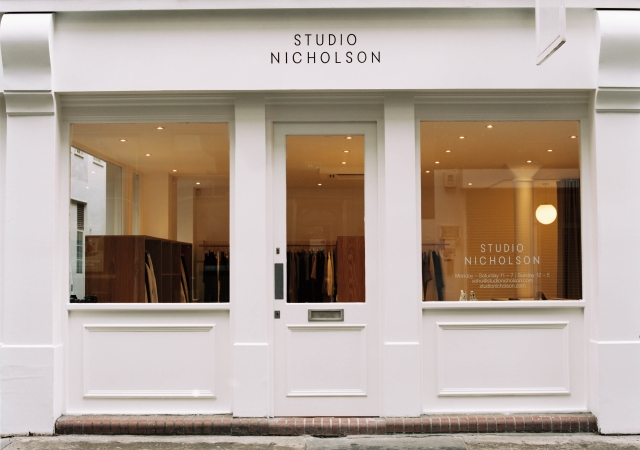 The Studio Nicholson storefront in Soho