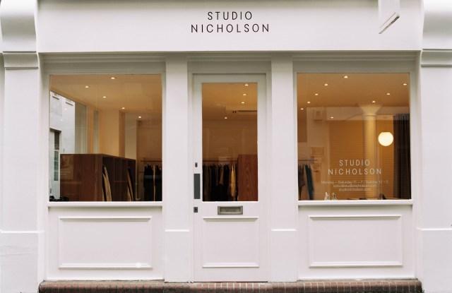 The Studio Nicholson storefront in Soho