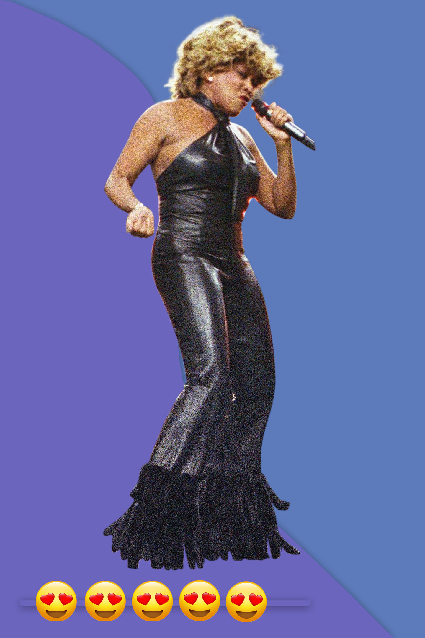 Tina Turner sings as part of the halftime show at Super Bowl XXXVI, 2000 in Atlanta.