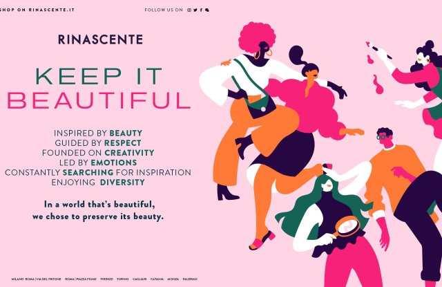 """Rinascente's """"Keep It Beautiful"""" campaign."""
